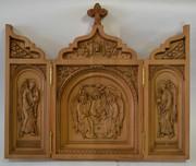 Большой двухсторонний складень Св.Троица с предстоящими архангелами